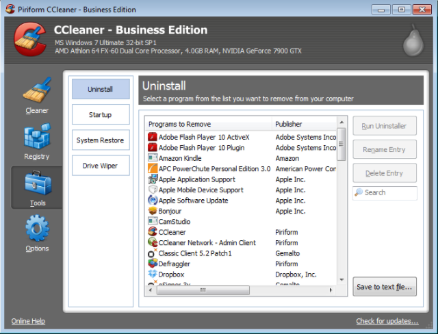 CCleaner Portable Free